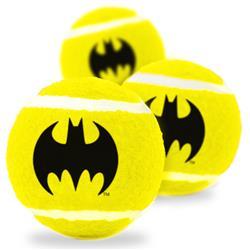 Dog Toy Squeaky Tennis Ball 3-PACK - Batman Bat Icon Yellow/Black