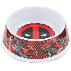 "Single Melamine Pet Bowl - 7.5"" (16oz) - Deadpool Logo + Deadpool Pose/Logo Black/Red"