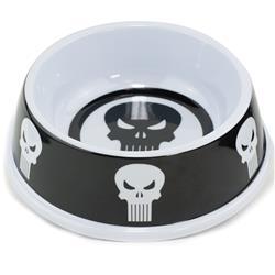 """Single Melamine Pet Bowl - 7.5"""" (16oz) - Punisher Logo4 + Punisher Logo4 Black/White"""