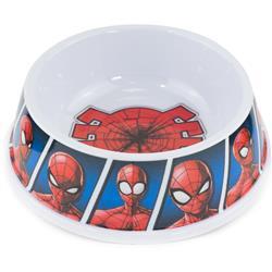 """Single Melamine Pet Bowl - 7.5"""" (16oz) - Spider-Man Shattered Spider + Spider-Man Expression Blocks Blues"""
