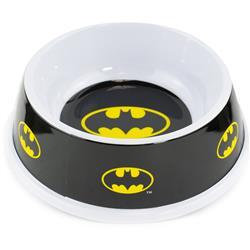 """Single Melamine Pet Bowl - 7.5"""" (16oz) - Batman Shield Black/Yellow"""