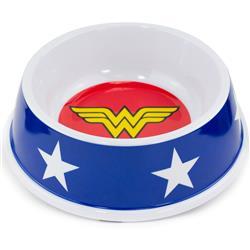 "Single Melamine Pet Bowl - 7.5"" (16oz) - Wonder Woman Icon + Stars"