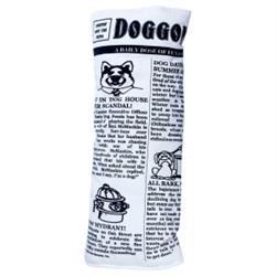 Pet Qwerks® Krinkle & Squeaky Newspaper Plush Dog Toy