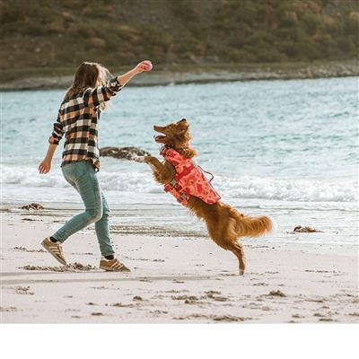 Hurtta Life Savior ECO, Dog Life Vest/Jacket, Coral Camo
