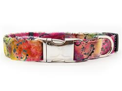 Montecito Dog Collar - Silver Buckle