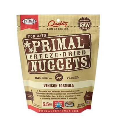 Primal Feline Freeze Dried Nuggets 5.5 oz - Venison Formula  (DISCONTINUED 05/10/21)