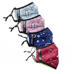 Paw-Bone Bandana Fashion Print Face Masks - Adjustable, Washable, Reusable