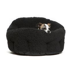 Black Mini Sherpa OrthoComfort Deep Dish Cuddler