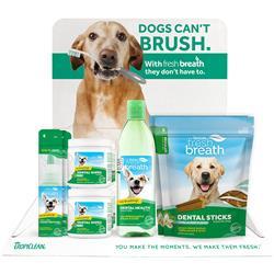 Fresh Breath by TropiClean 16pc Dental Sticks & Wipes Counter Display