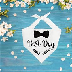 Wedding, Wedding Bandana,  Best Dog, Dog Wedding | 2 color options