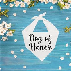 Wedding, Wedding Bandana,  Dog of Honor, Dog Wedding | 2 color options