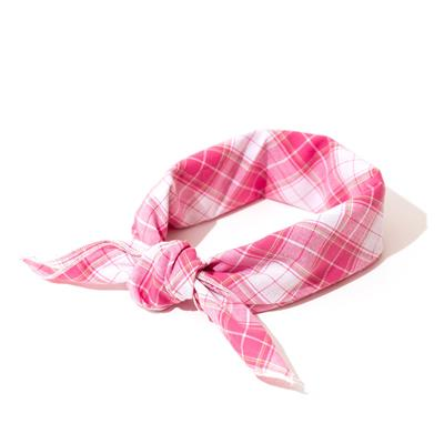 Madras Plaid Pink/White Bandana