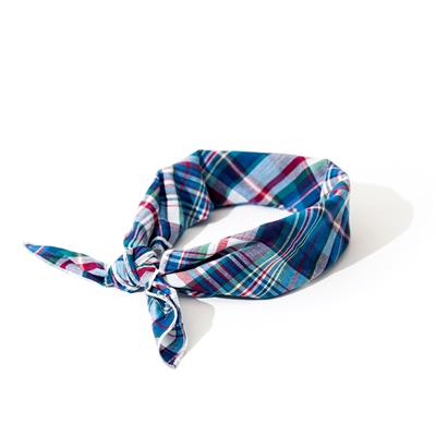 Madras Plaid Blue/Navy/Multi Classic Bandana
