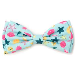 Seashells Teal Bow Tie