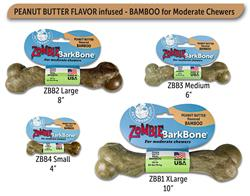 Pet Qwerks® Zombie Peanut Butter Infused Bamboo BarkBones®