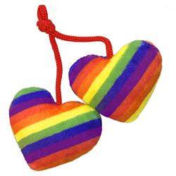 Pride Heart Strings Cat Toy by Kittybelles
