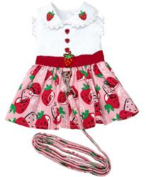 Strawberry Picnic Dress with Matching Leash