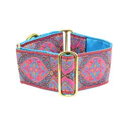 Aristocracy Pink 2″ Wide Satin Lined Martingale Collars