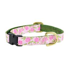 5/8″ Rosy Dots Pink Dog Collar