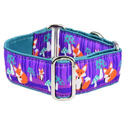 Nocturnal – Fox and Mushroom Satin Lined Collars & Leads
