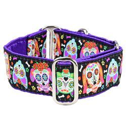 XOLO – Sugar Skull Satin Lined Collars & Leads