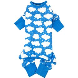 CuddlePup Dog Pajamas - Fluffy Clouds - Blue