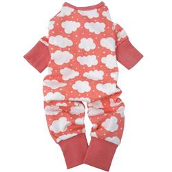 CuddlePup Dog Pajamas - Fluffy Clouds - Coral