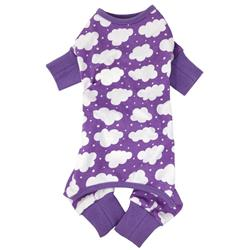 CuddlePup Dog Pajamas - Fluffy Clouds - Purple
