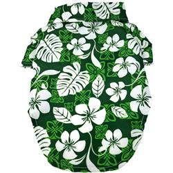 Hawaiian Camp Shirt - Tropical Green