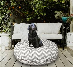 Bagel Bed - Grey Wave or Customize your Own