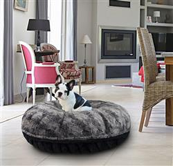 Bagel Bed - Arctic Seal and Black Puma or Customize your Own