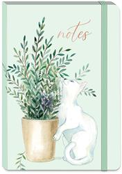 HOUSEPLANT WHITE CAT - Soft Cover Bungee Journal