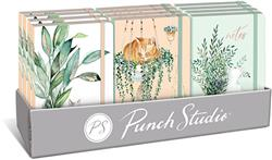 HOUSEPLANT CAT PRE-PACK - 12 Soft Cover Bungee Journals with Display Box