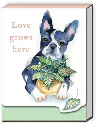 HOUSEPLANT BOSTON TERRIER - Pocket Notepad