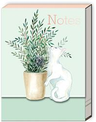 HOUSEPLANT WHITE CAT - Pocket Notepad