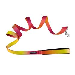 American River Ombre Leash - Raspberry Pink and Orange