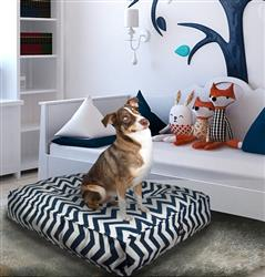 Sicilian Rectangle Bed Navy Wave or Customize your Own
