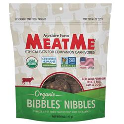 Organic Bibbles — Beef with Pumpkin Nibbles for Dogs & Cats, 4 oz. Bag