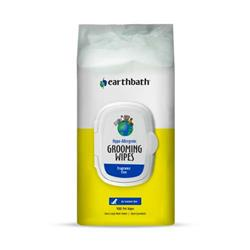 earthbath® Hypo-Allergenic Grooming Wipes, Fragrance Free, Cleans & Conditions, 100 ct plant-based wipes in re-sealable pouch