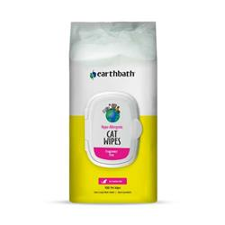 earthbath® Hypo-Allergenic Cat Grooming Wipes, Fragrance Free, Cleans & Conditions, 100 ct plant-based wipes in re-sealable pouch