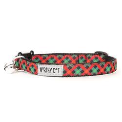 Holiday Check Cat Collar