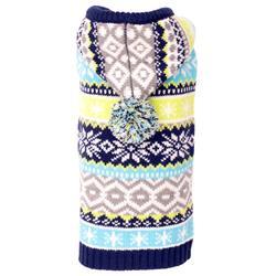 Blue Fairisle Hoodie Sweater
