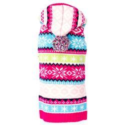 Pink Fairisle Hoodie Sweater