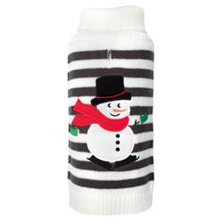 Stripe Snowman Sweater