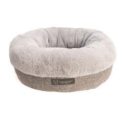 NANDOG ROUND LINEN + INSIDE CLOUD MICRO-PLUSH PET BED