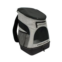 """Life is Good® Heather Grey Backpack Pet Carrier, 11.5""""L x 9""""W x 17.5""""H"""