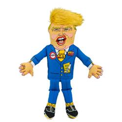 "Small Classic Donald Dog Toy - 12"" Presidential Parody"