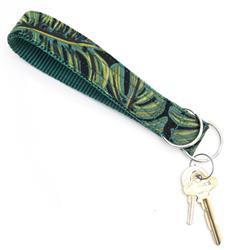 Jungle Monstera Rifle Paper Co Wristlet Key Fob