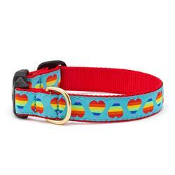 Rainbow Hearts Dog Collars, Leads, & Harnesses