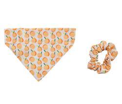 Peach Bandana Scrunchie Set - S/M